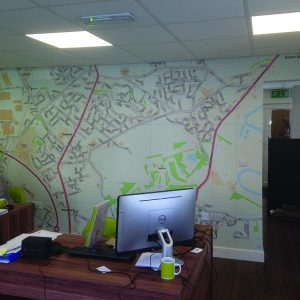 Wall Vinyl For Trinity Letting Wakefield